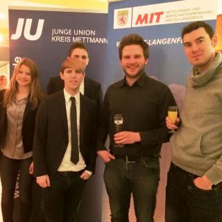 Glanzvoller Neujahrsempfang 2015 der MIT und JU – Thema: Digitale Infrastruktur & Industrie 4.0