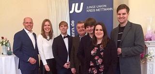 Junge Union Kreis Mettmann begrüßt das neue Jahr 2016 und diskutierte über Flüchtlingspolitik